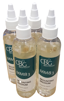 MM83 Mounting Medium - One (1) Case - (4 x 4 oz. bottles)